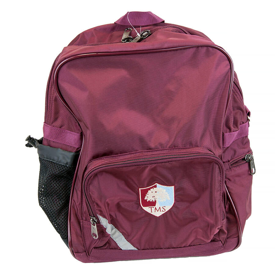 Tockington Manor School Backpack ages 5 to 8 Front