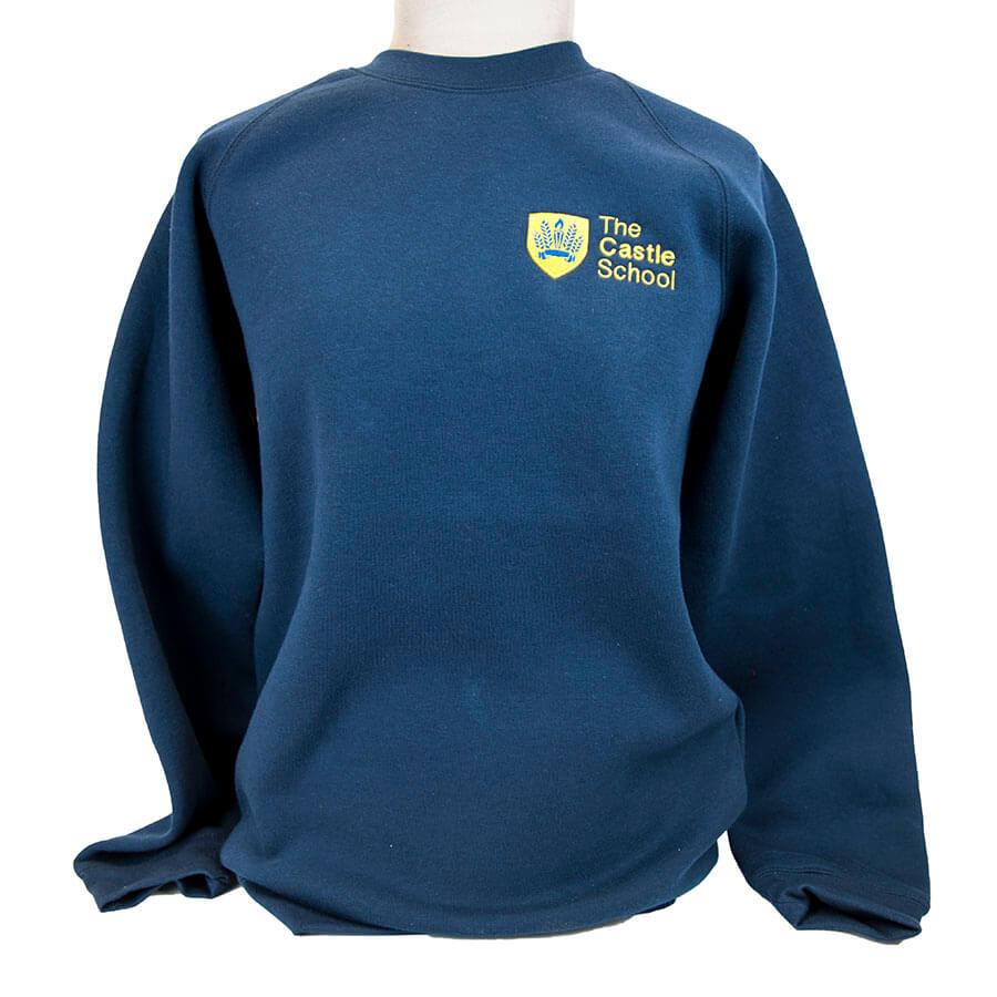 Castle School Navy sweatshirt