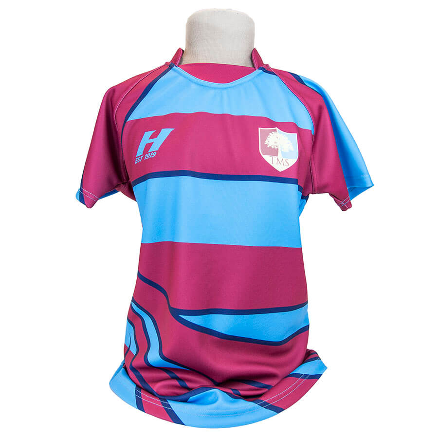 Tockington Manor School Rugby shirt playing
