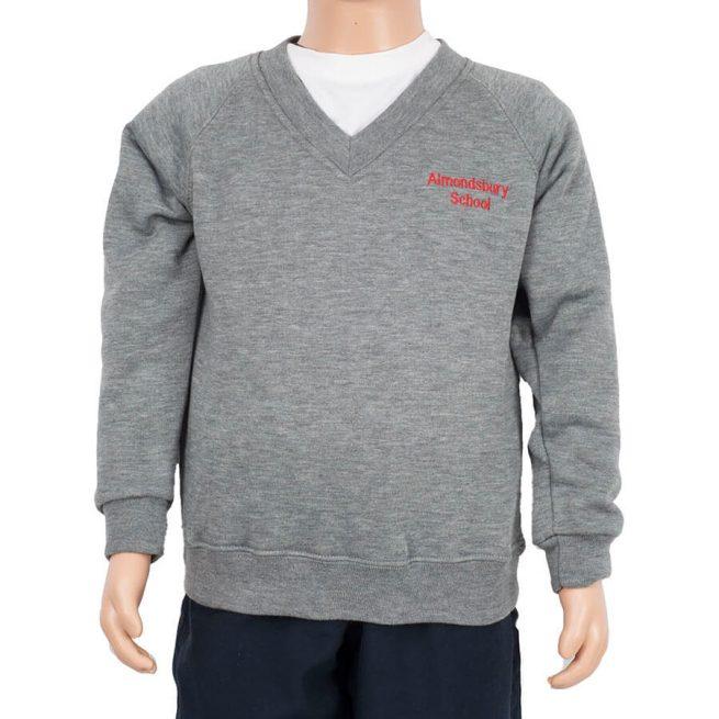 Almondsbury grey v-neck sweatshirt