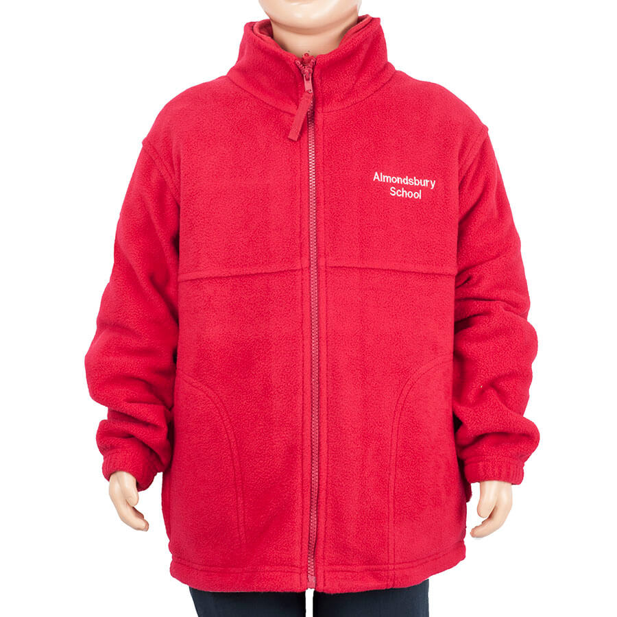Almondsbury red fleece jacket