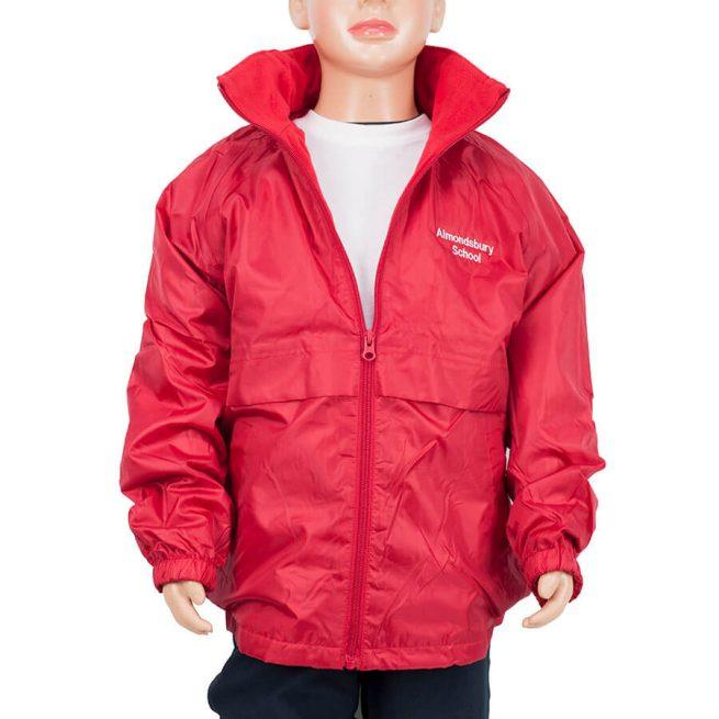 Almondsbury red reversible jacket