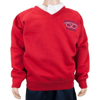 Crossways Red V-neck Sweatshirt