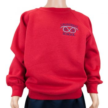 Crossways red round neck sweatshirt