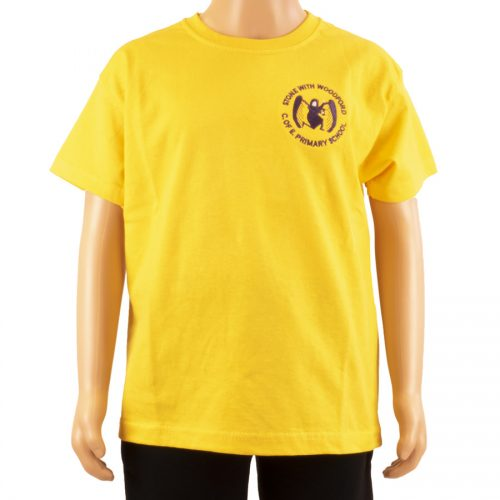 Stone and Woodford yellow t-shirt