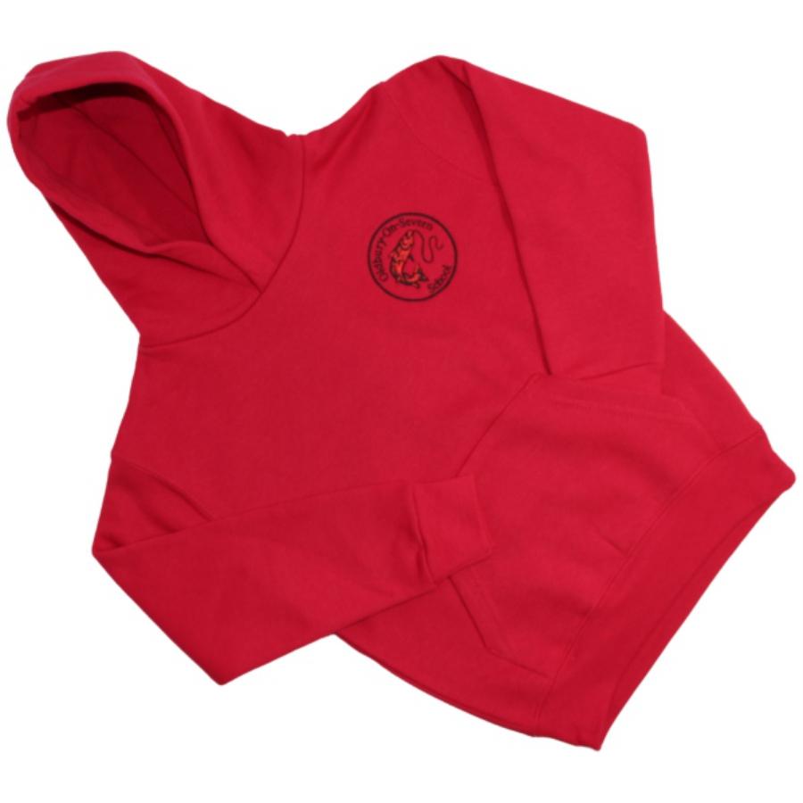 Oldbury School - Hoodie - Red - For Web Site - June 2020