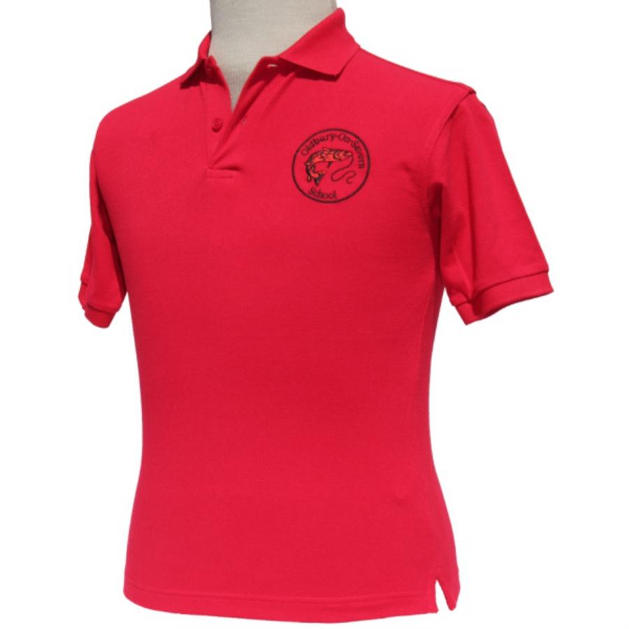 Oldbury School - Polo Shirt - Red - For Web Site - June 2020
