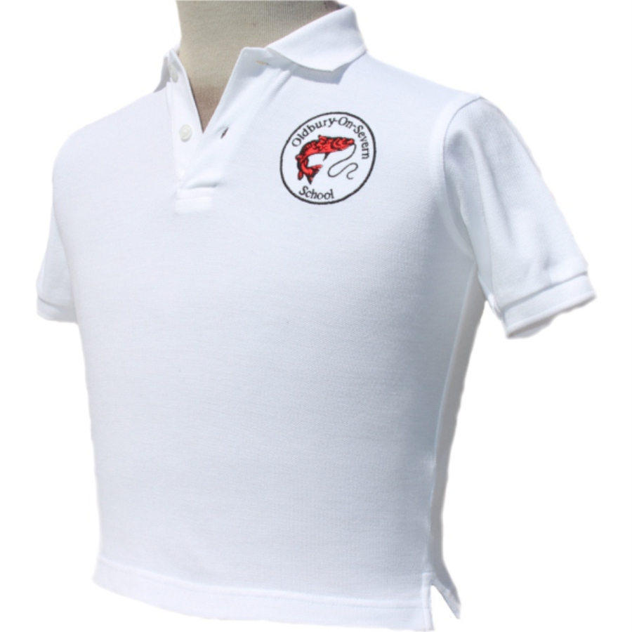 Oldbury School - Polo Shirt - White - For Web Site - June 2020