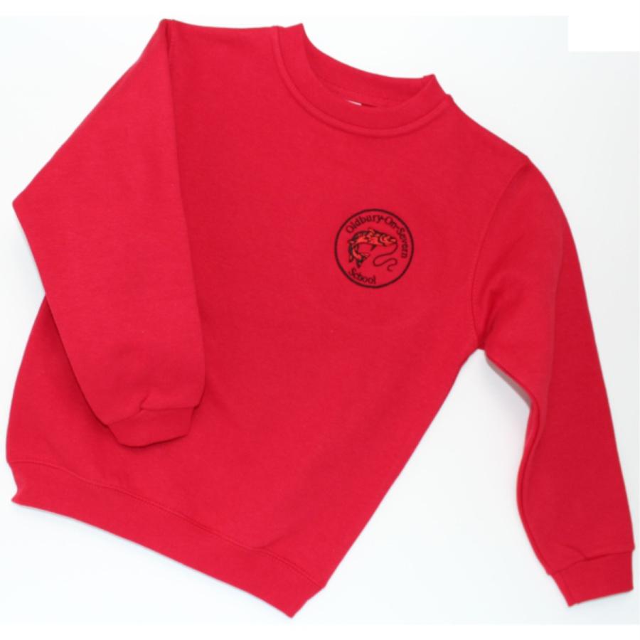 Oldbury School - Round Neck Seat shirt - Red - For Web Site - June 2020