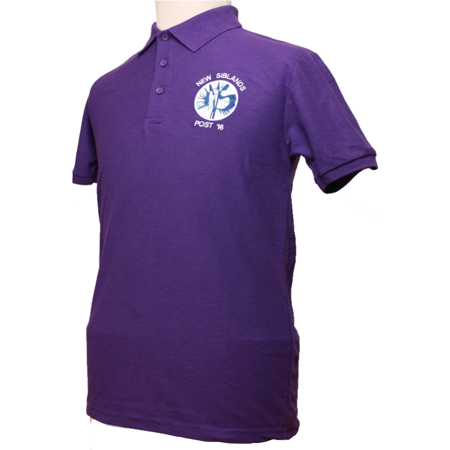 New Siblands Post 16 - Purple Polo Shirt for Web Site N.B - August 2020