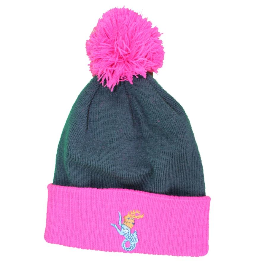 Avon Hockey Bobble Hat - Navy - Pink