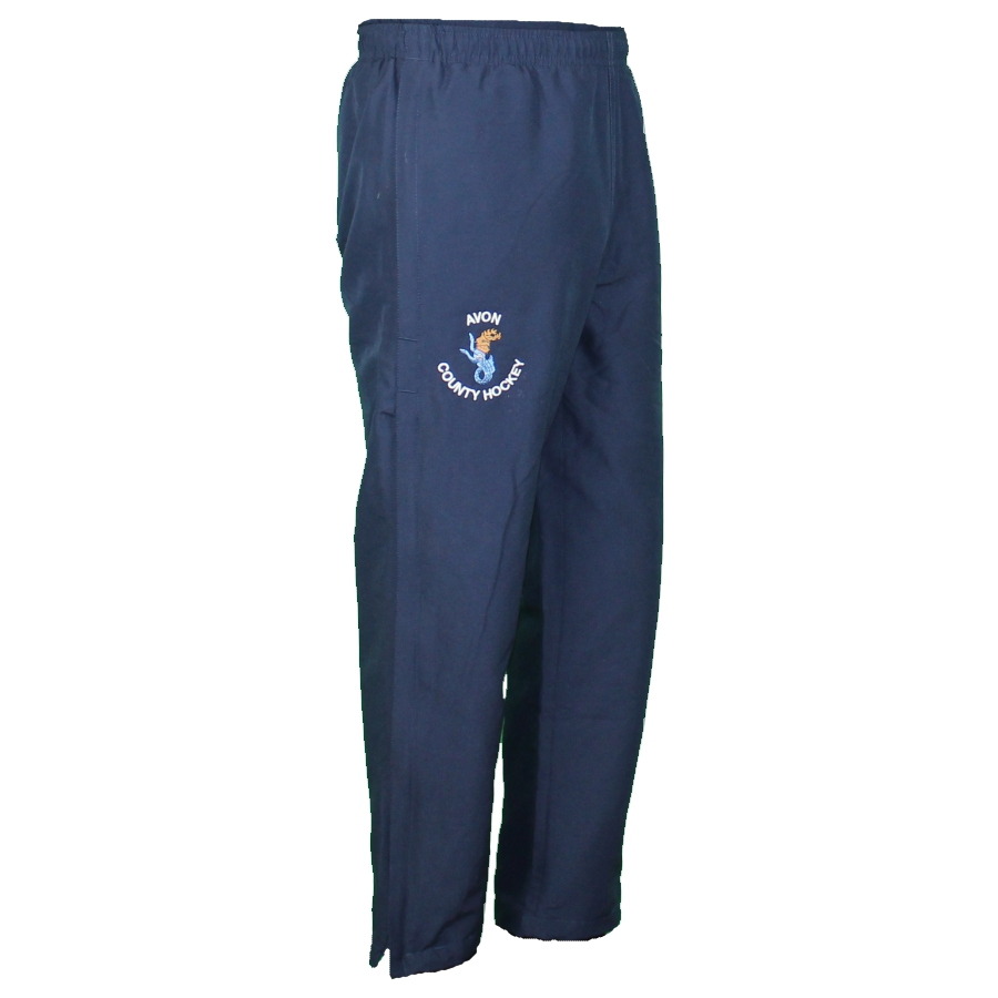 Avon Hockey Boys - Mens Track Pant Navy - three quarter - Leg Zip