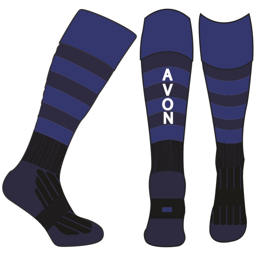 Avon Hockey NAVY - ROYAL Sock