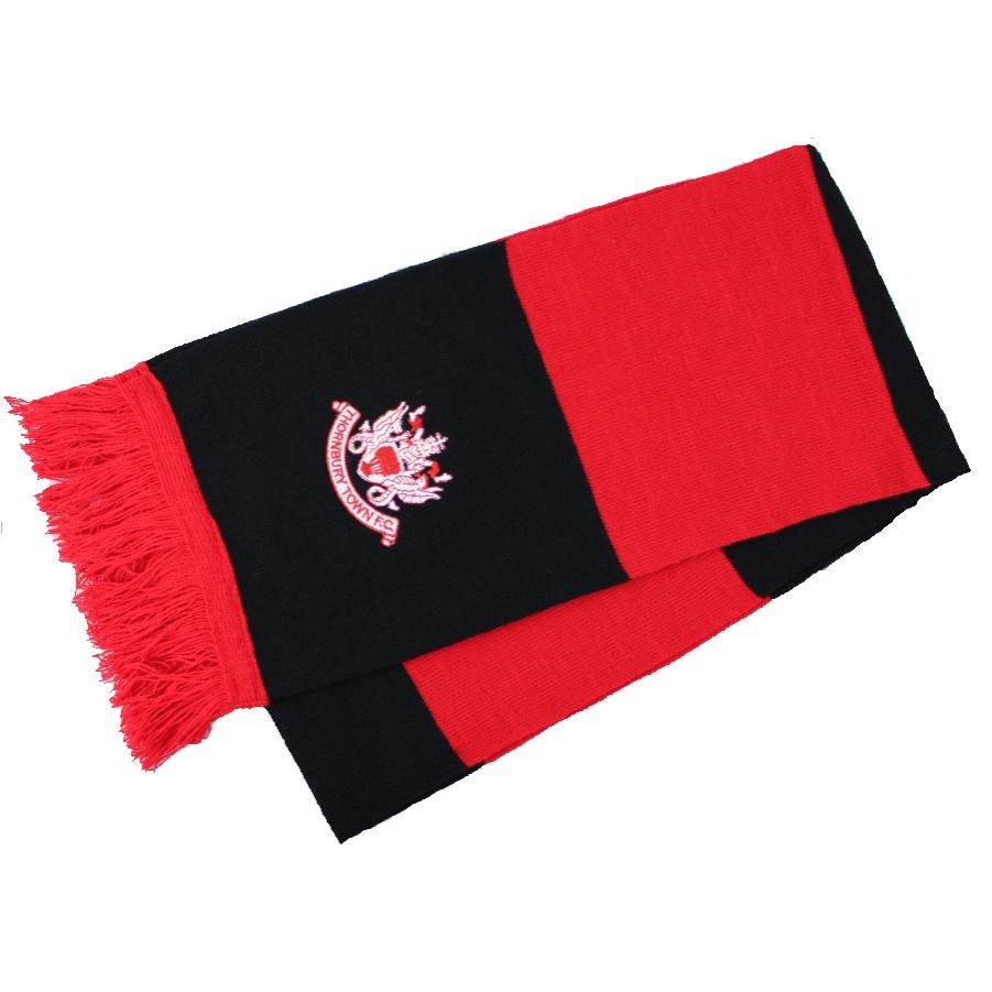 Thornbury Town FC - Scarf - Red - Black