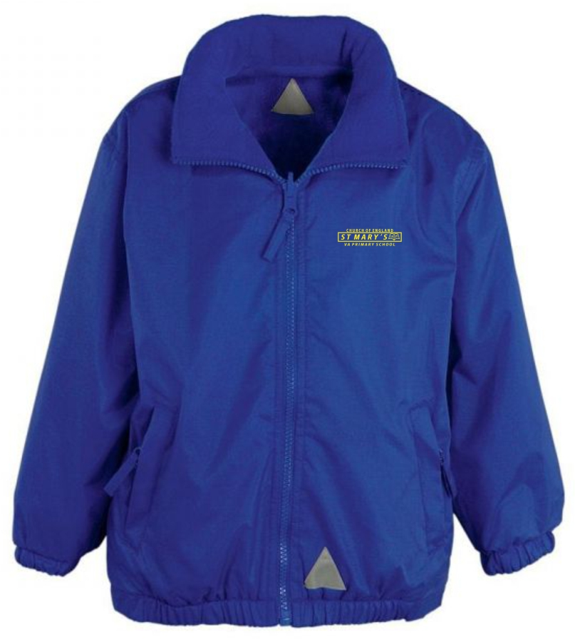 St Marys Fleece Lined Coat Bluel for web shop - March 2021