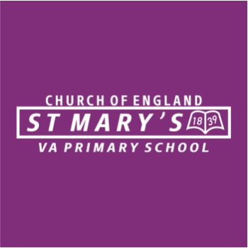 St Marys Primary School Logo White - Purple - for Web shop - March 2021